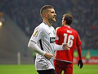 Ante Rebic (Eintracht Frankfurt) jubelt über das Tor zum 2:0 - 07.02.2018: Eintracht Frankfurt vs. 1. FSV Mainz 05, DFB-Pokal Viertelfinale, Commerzbank Arena