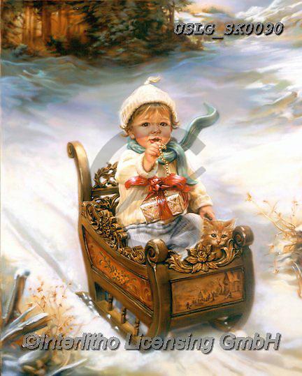 CHRISTMAS CHILDREN, WEIHNACHTEN KINDER, NAVIDAD NIÑOS, paintings+++++,USLGSK0090,#XK# ,Sandra Kock,victorian
