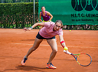 The Hague, Netherlands, 09 June, 2018, Tennis, Play-Offs Competition, Womans doubles: Danielle Harmsen (NED) (foreground) and Quirine Lemoine (NED)<br /> Photo: Henk Koster/tennisimages.com