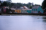 Colourful quayside cottages at Union Hall, village, County Cork, Ireland