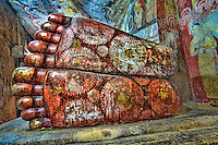 The giant feet of the Buddha.<br /> (Photo by Matt Considine - Images of Asia Collection)