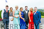 Enjoying the Colaiste Ide agus Iosef, Abbeyfeale  Debs at Ballyroe Heights Hotel on Tuesday were L-R  Luke Dore, Orla Greaney, Sarah O'Grady, Francis Broderick, Donnacha Scanlon,  Shannon Daly Tommy O'Connell