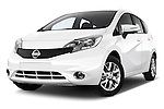 Low aggressive front three quarter view of a 2012 - 2014 Nissan NOTE 5 Door Hatchback 2WD