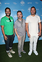 LOS ANGELES, CA - AUGUST 10: Arturo Sandoval, Frank Falcone, Samuel Borkson, at the Netflix Series Premiere Of True And The Rainbow Kingdom at the Pacific Theatres at The Grove in Los Angeles, California on August 10, 2017. Credit: Faye Sadou/MediaPunch