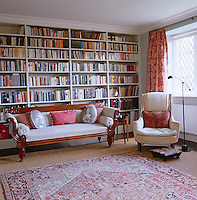 The light-filled library is known as the Monmouth Room in memory of a visit from the Duke of Monmouth in the 17th century