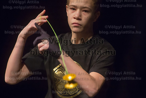 Carlos Braun of Germany competes during the Yoyo European Championships in Budapest, Hungary on February 24, 2013. ATTILA VOLGYI