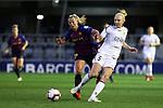 UEFA Women's Champions League 2018/2019.<br /> Quarter Finals.<br /> FC Barcelona vs LSK Kvinner FK: 3-0.<br /> Toni Duggan vs Ina Gausdal.