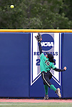 Rancho's Jahnae Davis-Houston chases a hit from Reed during NIAA DI softball action at the University of Nevada, in Reno, Nev., on Thursday, May 19, 2016. Cathleen Allison/Las Vegas Review-Journal