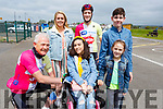 Tomas Mac an tSaoir ready to cycle to Dingle to celebrate cycling Africa recently. <br /> Standing with Fionbarr Walsh, Eadaoin McGinley, Tomas Mac an tSaoir and Ciaran Sayers and Carmen Mazzelle in Blennerville on Saturday