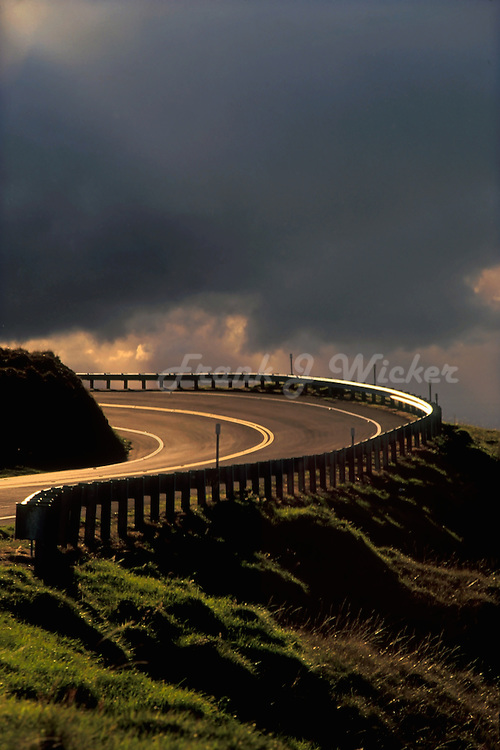 Crater Road to the summit of  HALEAKALA NATIONAL PARK on Maui in Hawai twists and turns to the very top