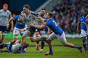 2nd February 2019, Murrayfield Stadium, Edinburgh, Scotland; Guinness Six Nations Rugby Championship, Scotland versus Italy; Jamie Ritchie of Scotland is tackled by Federico Ruzza of Italy