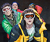 The Conquest of the South Pole<br /> by Manfred Karge<br /> translated by Tinch Minter &amp; Anthony Vivis directed by Stephen Unwin<br /> designed by Hayden Griffin<br /> <br /> at the Arcola Theatre, london, Great Britain <br /> press photocall <br /> 26th April 2012 <br /> <br /> Chris Ashby as Frankieboy<br /> Sam Crane as Braukmann<br /> O-T Fagbenie as Slupianek<br /> Mark Field as Buscher <br /> Andrew Gower  as Seiffert The Moose of Herne<br /> Emma Cubbiffe as La Braukmann<br /> <br /> Photograph by Elliott Franks