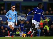 6th February 2019, Goodison Park, Liverpool, England; EPL Premier League Football, Everton versus Manchester City; Ilkay Gundogan of Manchester City looks for a team mate before making a pass