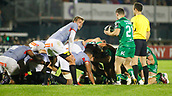9th September 2017, Galway Sportsground, Galway, Ireland; Guinness Pro14 Rugby, Connacht versus Southern Kings; Caolin Blade gets ready to put the ball into the Connacht scrum