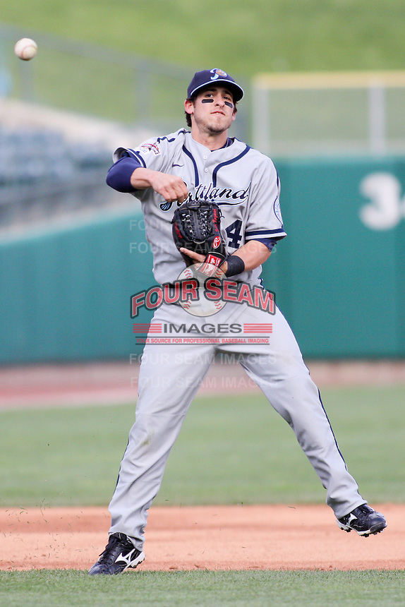 April 27, 2009:  Sean Kazmar of the Portland Beavers, Pacific Cost League Triple A affiliate of the San Diego Padres, during a game at the Spring Mobile Ballpark in Salt Lake City, UT.  Photo by:  Matthew Sauk/Four Seam Images