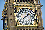 The clock of the big ben tower in London, United Kingdom