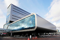 Nederland Amsterdam 2015. Het Elicium Centre. Eén van de gebouwen van RAI Amsterdam. Naast een ballroom en vier congreszalen zijn hier ook 20 vergaderzalen  voor kleinschalige bijeenkomsten, trainingen en vergaderingen.