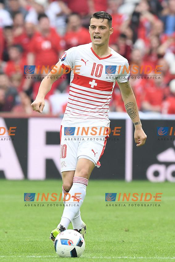 \Lens 11-06-2016 Stade Bollaert-Delelis Football  - Euro 2016 / Albania - Switzerland / foto Matteo Gribaudi/Image Sport/Insidefoto<br /> nella foto: Granit Xhaka