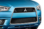 Angular close up detail of the grille on a 2011 Mitsubishi Outlander Sport SE