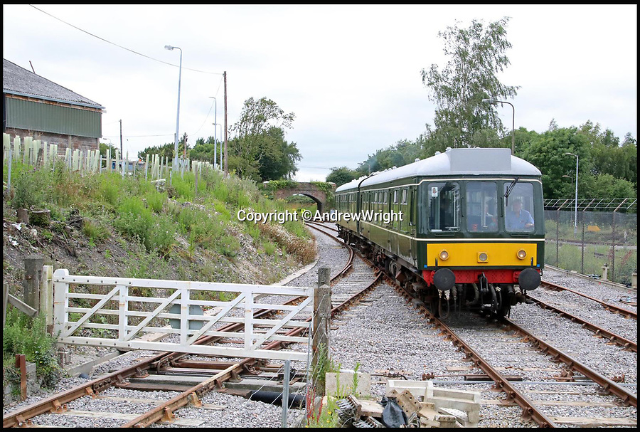 BNPS.co.uk (01202 558833)<br /> Pic: AndrewWright/BNPS<br /> <br /> Furzebrook, July 2016..<br /> <br /> A public train service is to run on a railway line ripped up in the 'Beeching Axe' thanks to an army of volunteers who have spent 45 years painstakingly rebuilding it. <br /> <br /> From next month timetabled passenger trains will operate on a daily basis from the mainline down to Swanage in Dorset.<br /> <br /> The Victorian town was effectively cut off from the rail network in 1972 after Dr Richard Beeching, a government railway advisor, recommended it be one of hundreds of loss-making rural lines axed.<br /> <br /> Since then hundreds of people have restored the track which has been upgraded to meet today's safety standards.