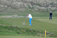 Pat Murray (Limerick) on the 14th during round 2 of The West of Ireland Amateur Open in Co. Sligo Golf Club on Saturday 19th April 2014.<br /> Picture:  Thos Caffrey / www.golffile.ie