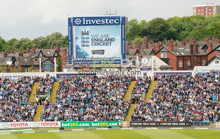 Picture by Allan McKenzie/SWpix.com - 21/05/2016 - Cricket - 2nd Investec Test - England v Sri Lanka - Headingley Cricket Ground, Leeds, England -  The brief, White Rose Stand, Mazars, Leeds Beckett University, branding.