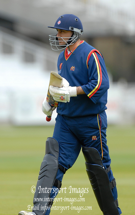 London, GREAT BRITAIN, Hitesh MODI, returns to pavillion, during the MCC vs Europe Match at Lords Cricket ground, England on Thur 07.06.2007  [Photo, Peter Spurrier/Intersport-images].....