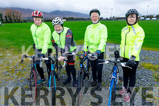 Jack Walsh, John Murray, Tony O'Callaghan and Martina Hanafinattending the 6th annual Jimmy Duffy Memorial Cycle in Blennerville on Saturday.