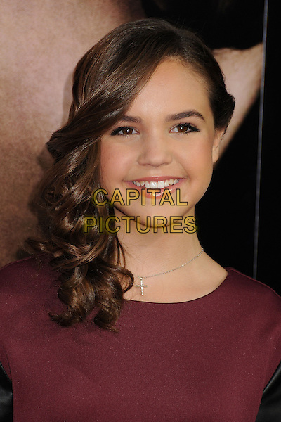 Bailee Madison<br /> &quot;Romeo &amp; Juliet&quot; Los Angeles Premiere held at Arclight Cinemas, Hollywood, California, USA.<br /> September 24th, 2013<br /> headshot portrait maroon burgundy  <br /> CAP/ADM/BP<br /> &copy;Byron Purvis/AdMedia/Capital Pictures