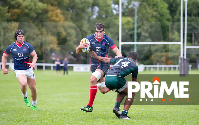 Action from the London Scottish U23 v Ealing Trailfinders U23 match at Richmond Athletic Ground, Richmond, United Kingdom on 19 August 2017. Photo by Andy Rowland.