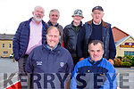 Attending the Threshing Festival in Blennerville on Sunday. <br /> Kneeling l-r, John Nolan (Castleisland), and Dermot Harrington (Tuosist). Standing  Sean Tagney (Killarney), Denis Tagney (Castlemaine), John Nolan and Michael McKenna (Castleisland).