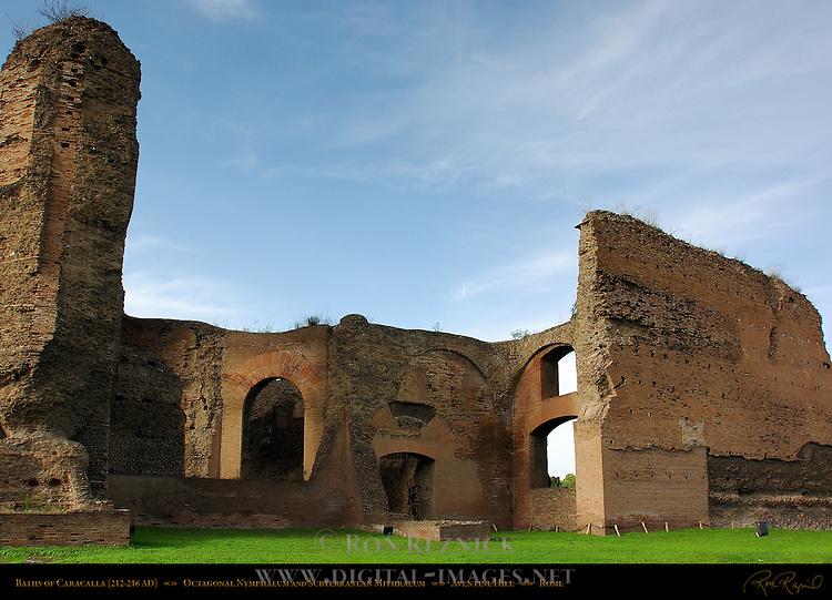 Baths of Caracalla Perimeter Nymphaeum Mithraeum Entrance Aventine Hill Rome