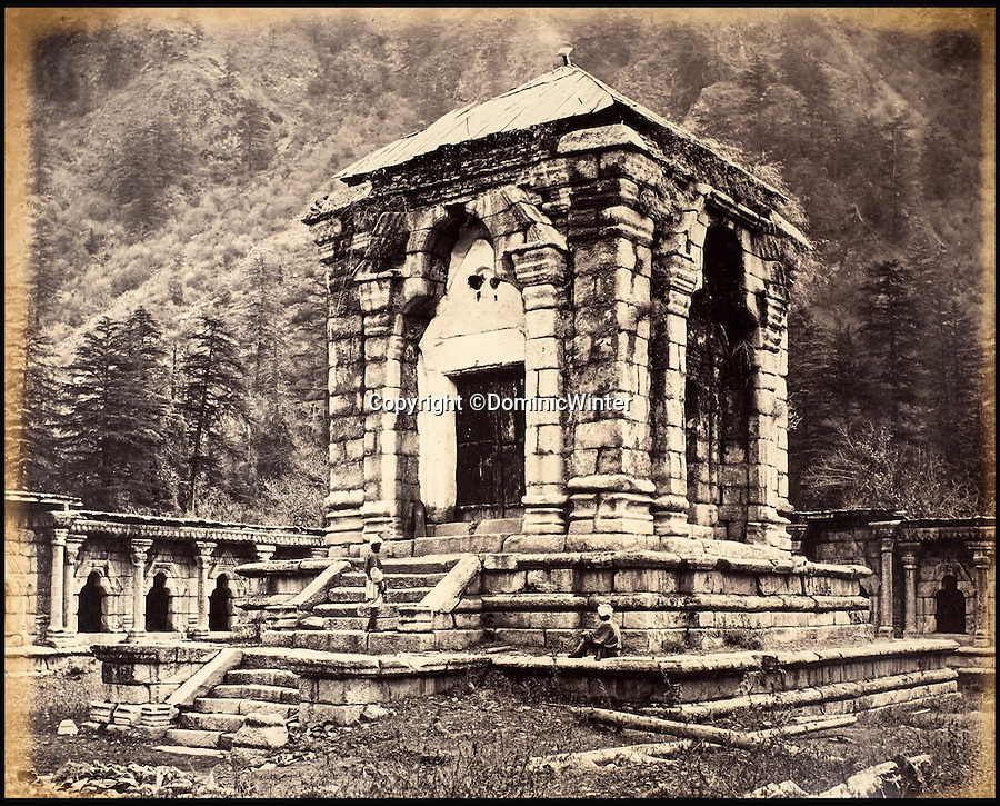 BNPS.co.uk (01202 558833)<br /> Pic: DominicWinter/BNPS<br /> <br /> An ancient temple at northern Kashmir.<br /> <br /> Fascinating 150 year-old photographs of India taken in the aftermath of the failed mutiny have sold for almost £8,000 at auction.<br /> <br /> The images, which date from 1863 to 1870, capture native soldiers with their weapons and picturesque landscapes and were taken by celebrated 19th century photographer Samuel Bourne.<br /> <br /> They went for a hammer price of £6,400 to a private collector from America who bid online with extra fees pushing the overall price above £7,800.<br /> <br /> Together with Charles Shepherd, Bourne set up photo studio Bourne & Shepherd first in Simla in 1863 and later in Calcutta.