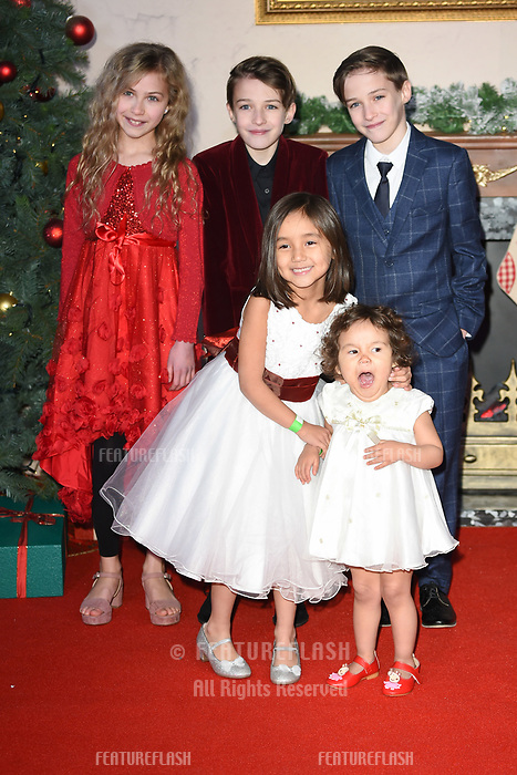 LONDON, UK. November 21, 2018: Kitty Peterkin, Riley White, Lochlin White,  at the &quot;Surviving Christmas with the Relatives&quot; premiere at the Vue Leicester Square, London.<br /> Picture: Steve Vas/Featureflash