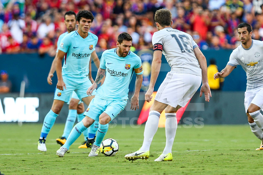 LANDOVER, EUA, 26.07.2017 - BARCELONA-MANCHESTER UNITED -  Lionel Messi do Barcelona durante partida contra o Manchester United jogo valido pela Internacional Champions Cup no  FedExField, Landover nos Estados Unidos nesta quarta-feira, 26. (Foto: William Volcov/Brazil Photo Press)