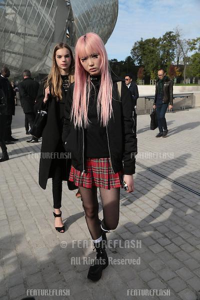 Unknown guests attend Louis Vuitton Show Front Row - Paris Fashion Week  2016.<br /> October 7, 2015 Paris, France<br /> Picture: Kristina Afanasyeva / Featureflash