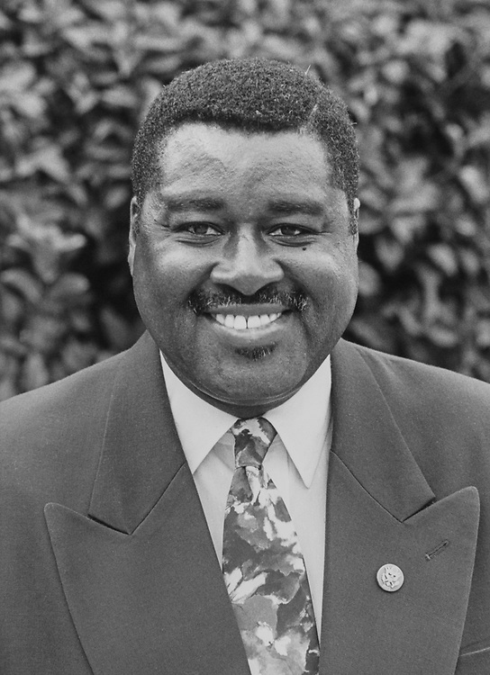 Portrait of Rep. Earl F. Hilliard, D-Ala., on April 5, 1993. (Photo by CQ Roll Call via Getty Images)