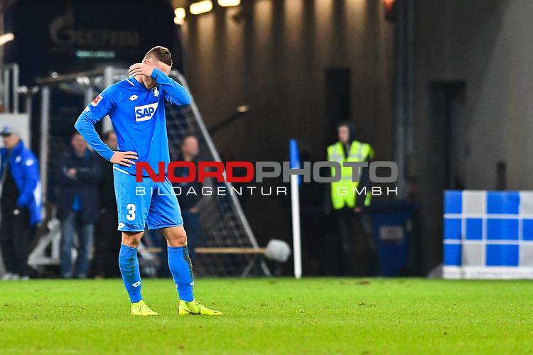 01.12.2018, wirsol Rhein-Neckar-Arena, Sinsheim, GER, 1 FBL, TSG 1899 Hoffenheim vs FC Schalke 04, <br /> <br /> DFL REGULATIONS PROHIBIT ANY USE OF PHOTOGRAPHS AS IMAGE SEQUENCES AND/OR QUASI-VIDEO.<br /> <br /> im Bild: Frust bei Pavel Kaderabek (TSG Hoffenheim #3)<br /> <br /> Foto © nordphoto / Fabisch