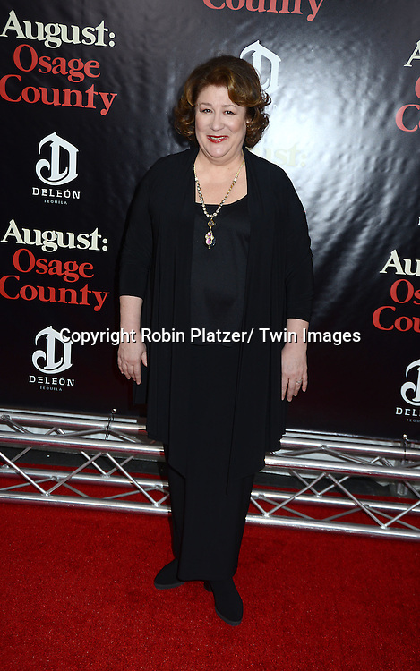 """Margo Martindale attends the New York Premiere of """"August: Osage County"""" on December 12, 2013 at the Ziegfeld Theatre in New York City."""