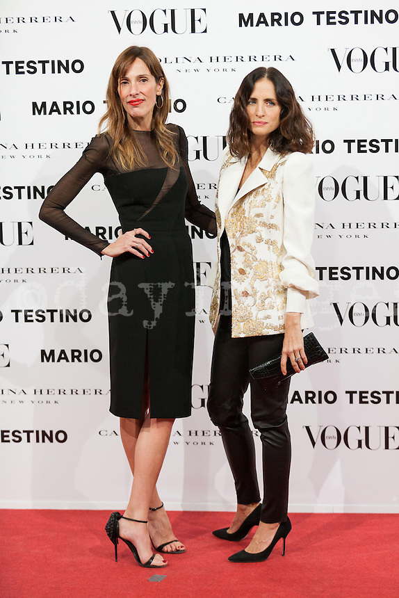 Yolanda Sacrist?°n and Carolina Herrera at Vogue December Issue Mario Testino Party