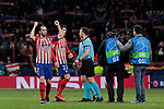 Atletico de Madrid's Diego Godin celebrates the victory  during UEFA Champions League match, Round of 16, 1st leg between Atletico de Madrid and Juventus at Wanda Metropolitano Stadium in Madrid, Spain. February 20, 2019. (ALTERPHOTOS/A. Perez Meca)