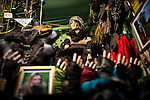 © Joel Goodman - 07973 332324 . 21 November 2013 . Manchester , UK . Grotesque dismembered hands reaching up towards a mannequin . Candid photos of the Christmas Markets in Manchester City Centre . Photo credit : Joel Goodman