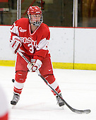 Kasey Boucher (BU - 3) - The Northeastern University Huskies defeated the Boston University Terriers in a shootout after being tied at 4 following overtime in their Beanpot semi-final game on Tuesday, February 2, 2010 at the Bright Hockey Center in Cambridge, Massachusetts.