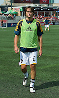 06 June 2009: Los Angeles Galaxy defender Todd Dunivant #2 during the warm-up MLS at BMO Field Toronto in a game between LA Galaxy and Toronto FC. .The Galaxy  won 2-1.