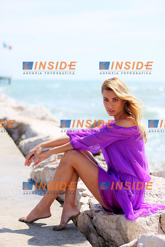 Venice, Italy - August 28: Sveva Alviti poses on the beach, during the 71st Venice Film Festival on August 28, 2014 in Venice, Italy. (Photo by Mark Cape/Inside)<br /> Venezia, Italy - Agosto 28: Sveva Alviti posa in spiaggia, durante del 71st Venice Film Festival. Agosto 28, 2014 Venezia, Italia. (Photo by Mark Cape/Inside Foto)