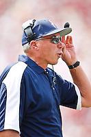 September 04, 2010:  Samford Bulldogs head coach Pat Sullivan  during first half action between the Florida State Seminoles and the Samford Bulldogs at Doak Campbell Stadium in Tallahassee, Florida. Florida State defeated Samford 59-6.