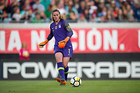 Jacksonville, FL - Thursday, April 05, 2018:  Alyssa Naeher during a friendly match between USA and Mexico at EverBank Stadium.  USA defeated Mexico 4-1.