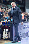 Fenerbahce Dogus coach Zeljko Obradovic during Turkish Airlines Euroleague match between Real Madrid and Fenerbahce Dogus at Wizink Center in Madrid , Spain. March 02, 2018. (ALTERPHOTOS/Borja B.Hojas)