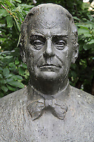 Bust of Ivq Andric, 1892-1975, Yugoslav writer, Sarajevo, Bosnia and Herzegovina. Picture by Manuel Cohen
