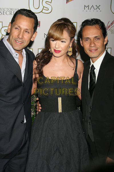 ANGELO PAGAN, LEAH REMINI & MARC ANTHONY.US Weekly Presents Us' Hot Hollywood 2007 held at Sugar,  Hollywood, California, USA..April 26th, 2007.half length married husband wife gold earrings pink lipstick dress.CAP/ADM/RE.©Russ Elliot/AdMedia/Capital Pictures
